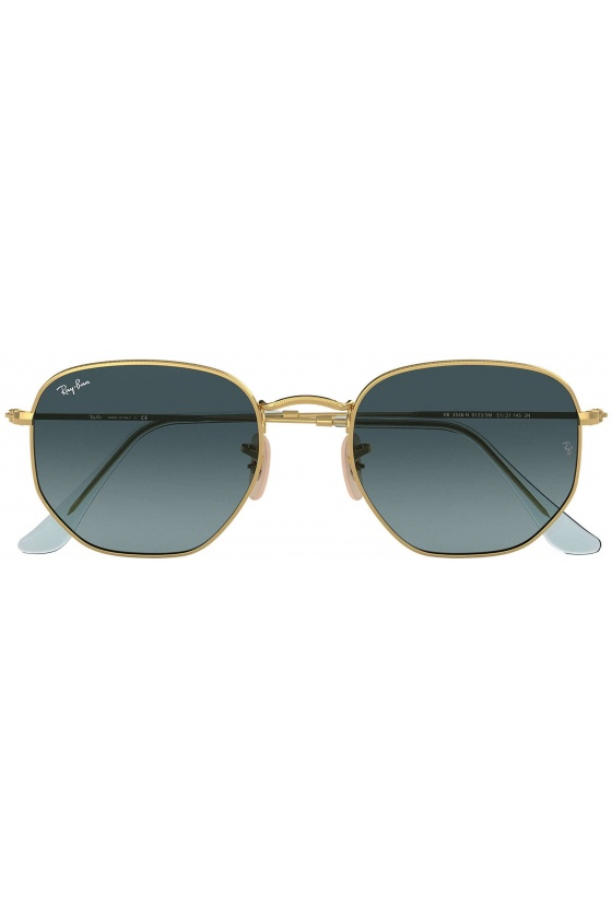 Ray-Ban RB3548N 91233M 51 Hexagonal Flat Lenses