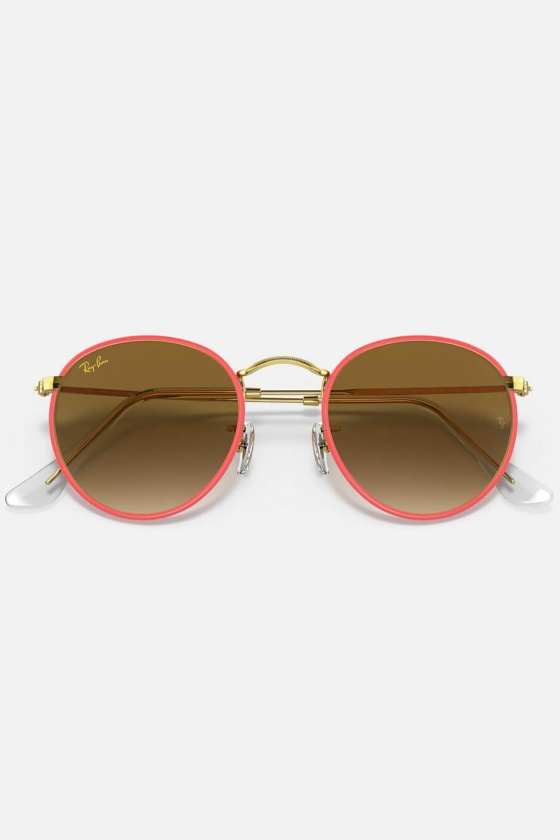 Ray-Ban RB3447JM 919651 Round metal full color legend